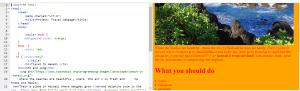 travel webpage