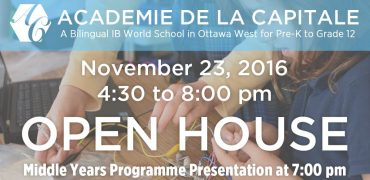 Open House Nov. 23