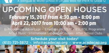 Open House Dates 2017