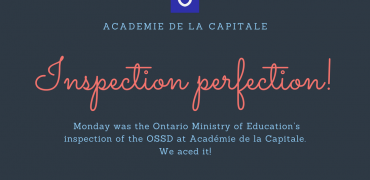 We aced the OSSD ministry inspection!